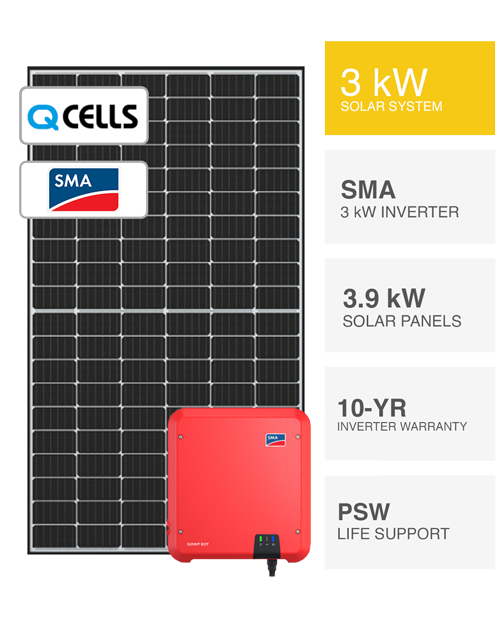 3kW SMA & QCells Solar System by PSW Energy
