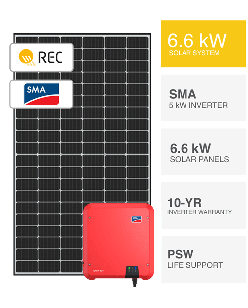 6.6kW REC & SMA Solar System by PSW Energy