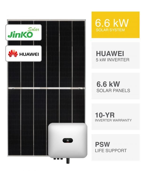 6.6kW Jinko Tiger Solar System and Huawei by PSW Energy