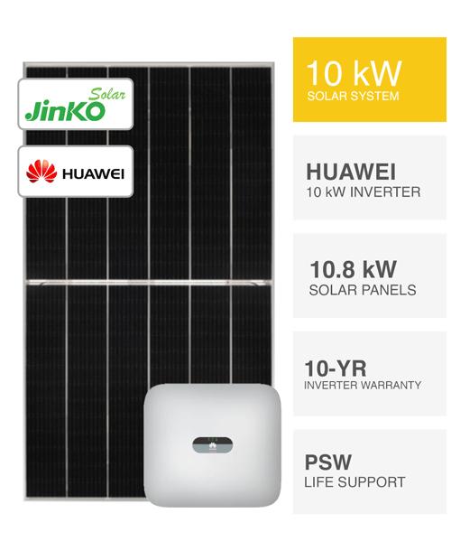 10kW Jinko & Huawei Solar System by PSW Energy