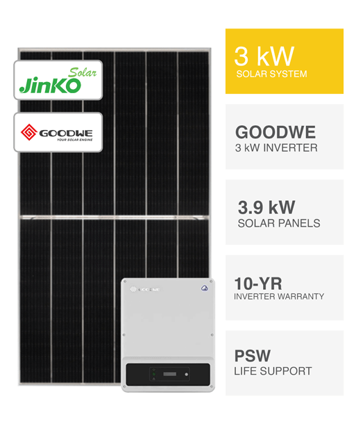 3kW Jinko & Huawei Solar System by PSW Energy