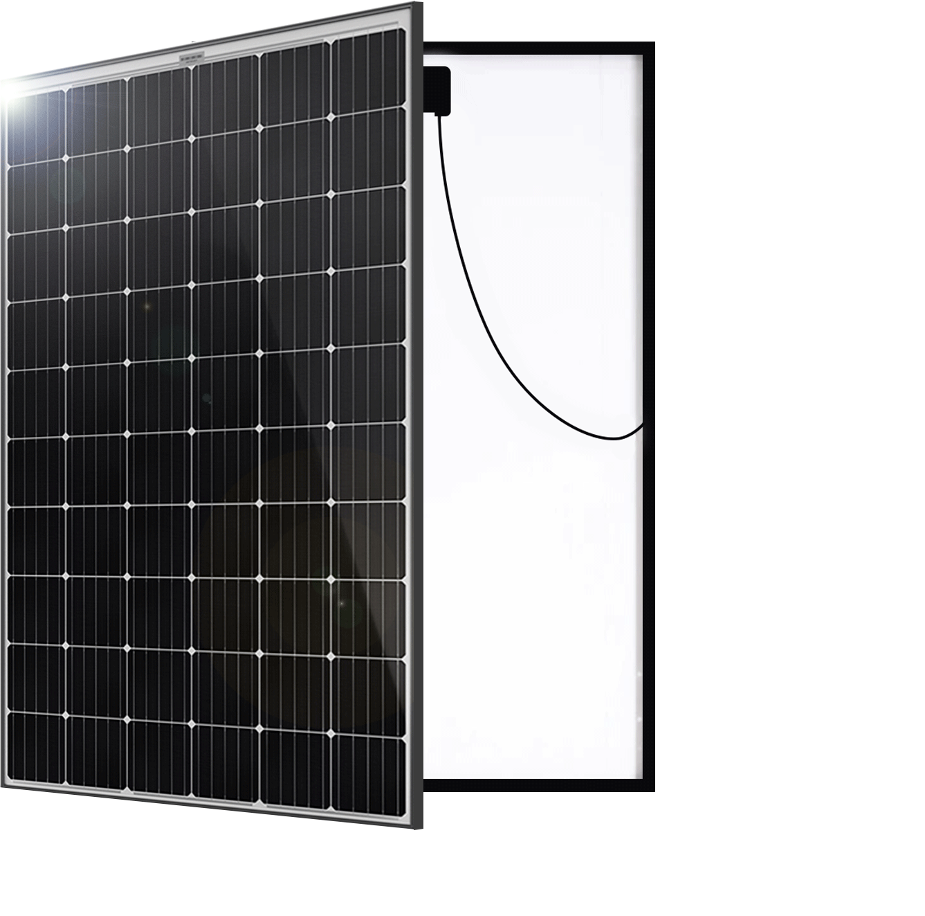 German Solar System Solar Panel Front & Back PW Energy