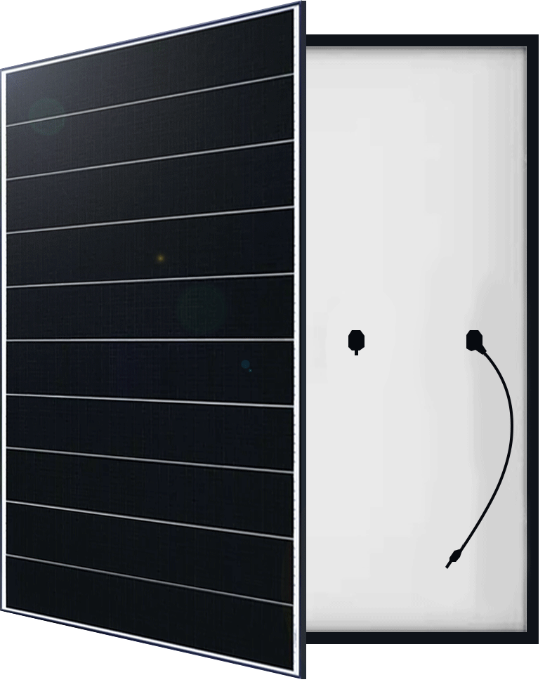 Hyindai Solar System Panel Front and Back by PSW Energy